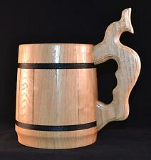Beer Wooden Tea Cups Wood Mug Handmade Barrel Juice Cup Travel Oak Tinted 0.65