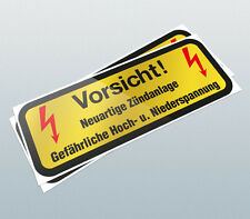 Vorsicht Coil Decal / Coil Sticker / High Voltage Sticker / Engine Decal