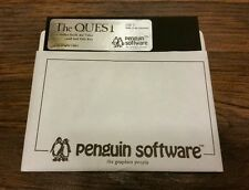RARE 1983 THE QUEST Hi-Res ADVENTURE PENGUIN SOFTWARE APPLE II IIe GAME Disk