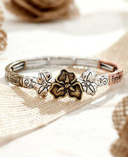 The Lakeside Collection Floral Sentiment Stretch Bracelets - Sister