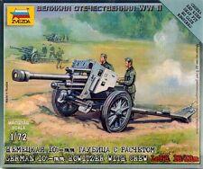 GERMAN 105mm HOWITZER w/CREW WWII  ZVEZDA 1/72 PLASTIC FIGURES (2)
