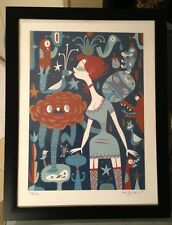 Tim Biskup Red Pheasant Queen 5 Color Serigraph Print #27 Of 150 From 2004