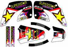 2000-2001 Honda CR125 250 CR250 125 Graphics Decals Shrouds Rear fender Sticker