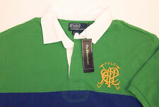 Polo Ralph Lauren Custom Fit Cross Mallets RLPC Rugby Shirt  $98 Color Block NWT