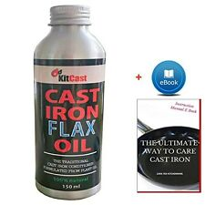 KitCast- Traditional Cast Iron Conditioner or Cast Iron Oil for Cast Iron