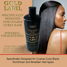 Keratin Gold Label Brazilian Blowout Treatment Ttraightening Extra Strength 8oz