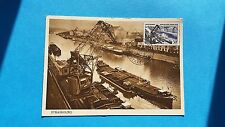 FRANCE CARTE MAXIMUM YVERT 1080 PORT STRASBOURG 30F STRASBOURG 1956 L111