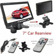 7'' LCD Car Camera Monitor Kit Radar Wireless Reversing Parking Sensor + Remote