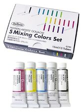 Holbein Artist's Gouache Opaque Water Color Set 5 colors primary set Japan New