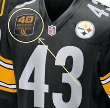 SUPER BOWL 43 CHAMPION PITTSBURG STEELERS 40TH ANNIVERSARY JERSEY IRON-ON PATCH