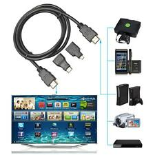 3in 1 High Speed HDMI to Mini/Micro HDMI Adapter Cable for PC TV PS4 Tablet 1.5M