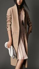 NWT BURBERRY LONDON $4595 WOMENS SUEDE LEATHER TRENCH COAT US 8 EU 42 ITALY