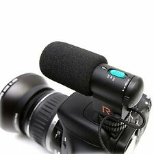 Black DV/Camera Stereo Microphone for Canon Nikon Pentax DSLR Camera Camcorder