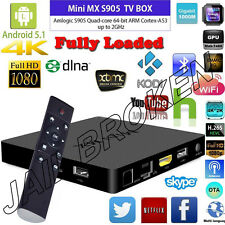 New MINI MX Android 5.1 Quad Core 4K Movies Mini PC Kodi Live TV Sports Box IPTV