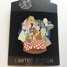 DisneyShopping.com - Lady and the Tramp Storybook Jumbo LE 500 Disney Pin 57281