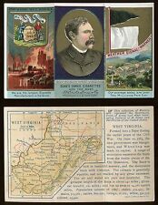 1880s N133 State & Territorial Gov. & Coats of Arms West Virginia *AA-7169