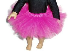 Hot Pink Tutu 18 inch Doll Clothes fits American Girl dolls Ballet Dance