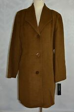 Jones New York   size 14  tobacco colored textured wool blend walker  NWT