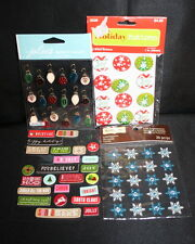 Christmas Stickers Embellishments and buttons Scrapbooking Cardmaking