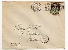 STORIA POSTALE 1950 REPUBBLICA TABACCO LIRE 20 SU BUSTA D/8709