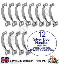 """12X Bow Pull Handle 5"""" Door Kitchen Furniture Bedroom Cupboard Drawer inc Screws"""