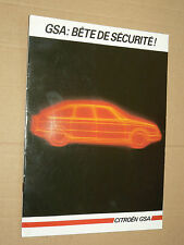 Prospectus CITROEN GSA  1985 catalogue car  brochure prospekt auto