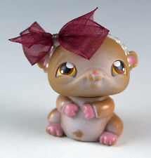 Littlest Pet Shop Hamster #36 Brown and White With Orange Eyes