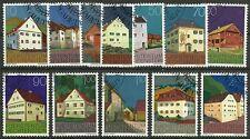 ARCHITEKTUR/ Liechtenstein MiNr 694/705 o Ersttagstempel