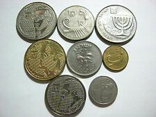 Israel -lot of 8 coins in XF- Uncirculated  condition.Very interesting.