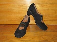"""CLARK'S ARTISAN MARY JANES WOMENS SZ8 BLACK LEATHER 2.5""""HEEL RUBBER OUTSOLE NWOB"""