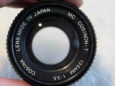 PENTAX PK MOUNT, COSINA 135MM, F 3.5, TELEPHOTO LENS