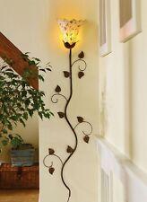 Wall Sconce Lamp Metal Flower Vine Petals Accent Light Home Decorative Lighting