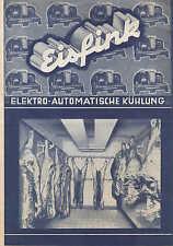 ASPERG, Prospekt 1935, Carl Fink Eis-Schrank-Fabrik Kühlschrank Bier-Ausschank-E