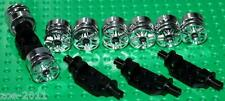 Lego Silver Chrome Wheel 18mm D x 14mm 4 pairs New!!!