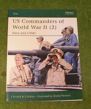 OSPREY MILITARY ELITE SERIES 87 US COMMANDERS OF WORLD WAR II (2) NAVY AND USMC