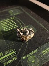 BWL Alligator Ring With Ruby & 18k Gold Overlay Size 10