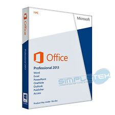 Licenza Retail Office 2013 Professional PLUS 32/64bit, pacchetto nuovo completo
