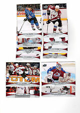 1X COLORADO AVALANCHE 2011-12 Upper Deck COMPLETE TEAM SET Base lot Series 1 & 2