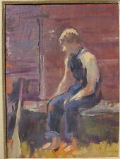 Vito Tomasello 1969 oil painting boy abstract portrait