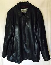 Wilson's Pelle Studio Black Leather Men's Jacket Thinsulate Ultra Insulation LG
