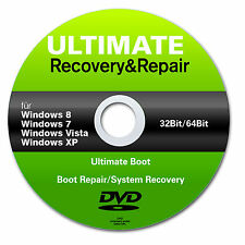 Recovery & Repair CD DVD für Windows 7  8  Vista XP Acer HP Lenovo