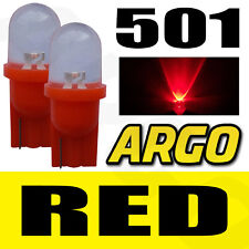 2x 501 LED INTERIOR BULBS RED XENON T10 W5W 194 HID WEDGE LAMP LIGHT 12V