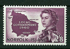 NORFOLK ISLAND 1960 LOCAL GOVERNMENT SG40 IMPRINT BLOCK OF 4 MNH