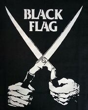 BLACK FLAG EVERYTHING WENT BLACK PUNK BLACK CANVAS BACK PATCH