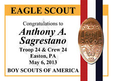 Personalized BSA Eagle Scout Elongated Coin Trading Card