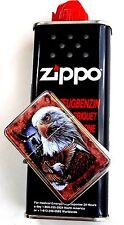 1x Original Zippo Benzin & 1Sturmfeuerzeug Eagle  Adler Benzinfeuerzeug !