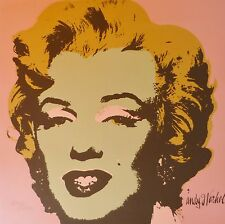 ANDY WARHOL MARILYN MONROE 1986 HAND NUMBERED 2218/2400 LITHOGRAPH signed