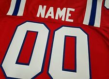 #00 New England Patriots Football Jersey  Your Name&Number -SEWN-ON-5XL-6XL.