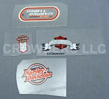 4 Harley Davidson Motor Co Window Decal Stickers Racing Motorcycles Patented