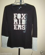 NEW HOT FOX RACING WOMEN'S STEADY PACE 2FER LONG SLEEVE T-SHIRT BLACK SMALL